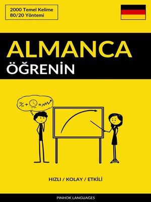 cover image of Almanca Öğrenin--Hızlı / Kolay / Etkili
