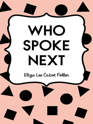 cover image of Who Spoke Next