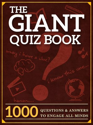 cover image of The Giant Quiz Book