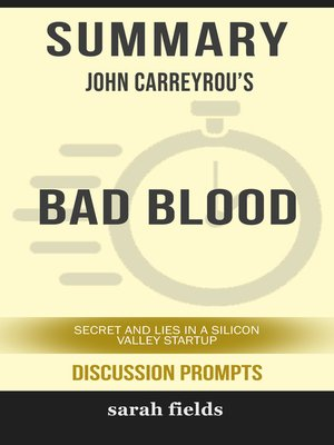 cover image of Summary: John Carreyrou's Bad Blood