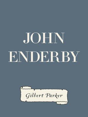 cover image of John Enderby