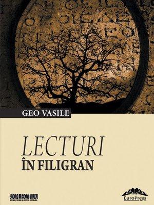 cover image of Lecturi în filigran