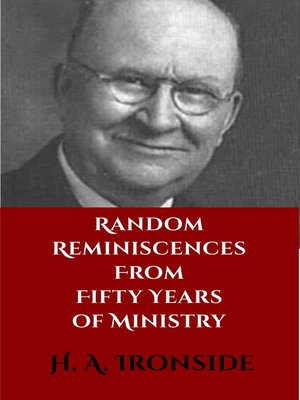 cover image of Random Reminiscences from Fifty Years of Ministry