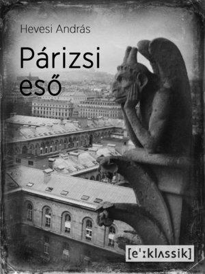 cover image of Párizsi eső