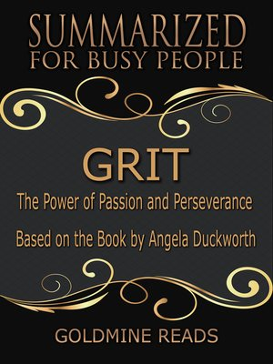 cover image of Grit - Summarized for Busy People