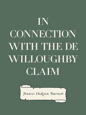 cover image of In Connection with the De Willoughby Claim