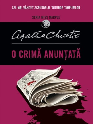 cover image of O crimă anunțată