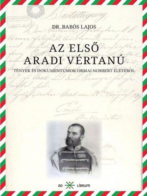 cover image of Az első aradi vértanú