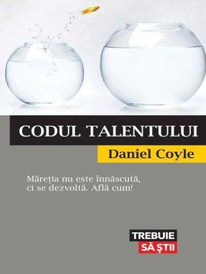 cover image of Codul talentului