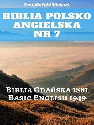 cover image of Biblia Polsko Angielska Nr 7