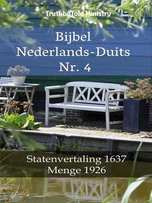 cover image of Bijbel Nederlands-Duits Nr. 4