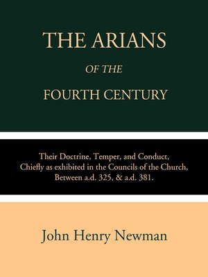 cover image of The Arians of the Fourth Century