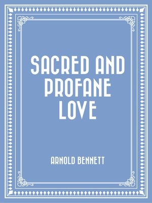 cover image of Sacred and Profane Love