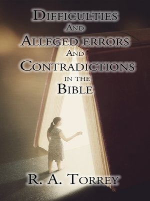 cover image of Difficulties and Alleged Errors and Contradictions in the Bible