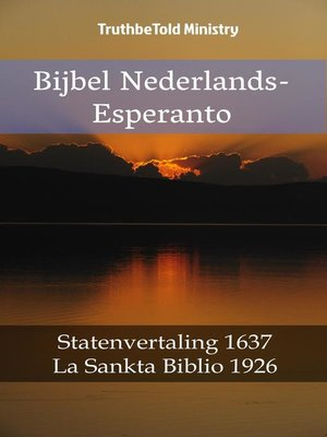 cover image of Bijbel Nederlands-Esperanto