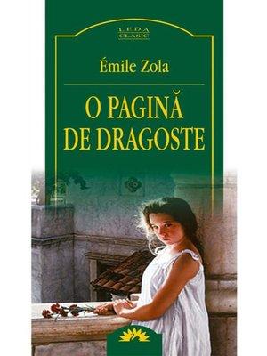 cover image of O pagina de dragoste