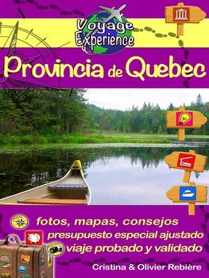 cover image of Provincia de Quebec