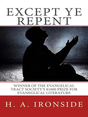 cover image of Except Ye Repent