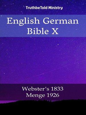 cover image of English German Bible X