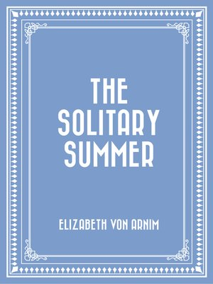 cover image of The Solitary Summer