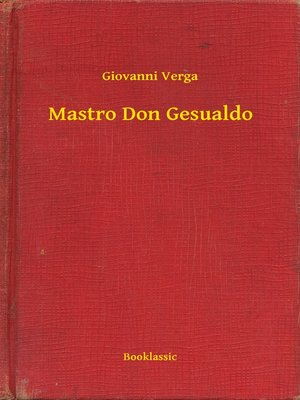 cover image of Mastro Don Gesualdo