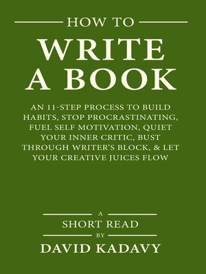 how write a book