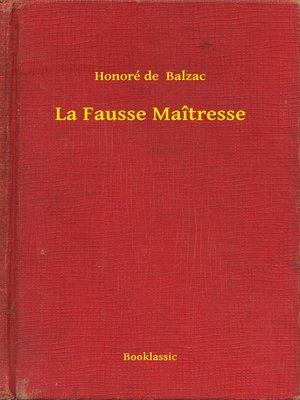 cover image of La Fausse Maîtresse