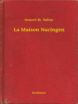 cover image of La Maison Nucingen