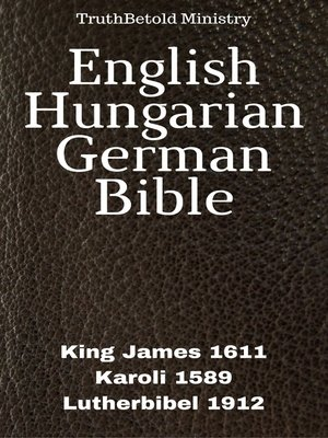cover image of English Hungarian German Bible