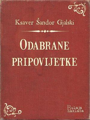 cover image of Odabrane pripovijetke