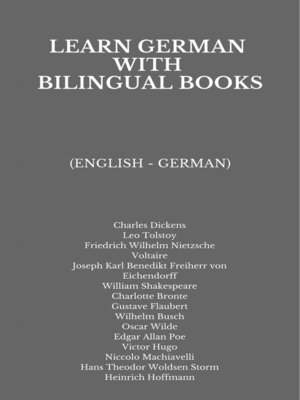 cover image of Learn German with Bilingual Books