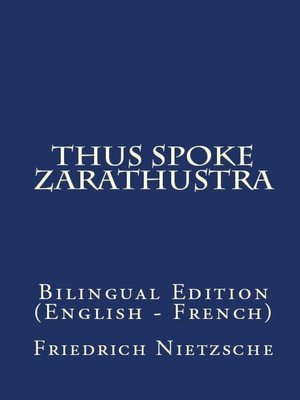 cover image of Thus Spake Zarathustra
