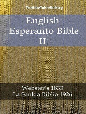 cover image of English Esperanto Bible II