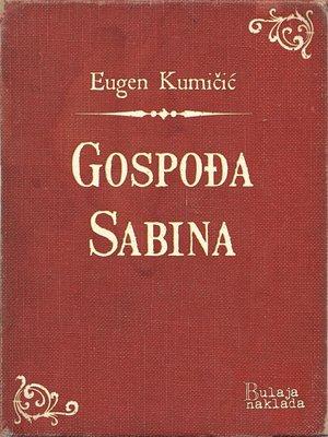 cover image of Gospođa Sabina