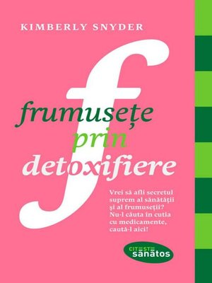 cover image of Frumusețe prin detoxifiere