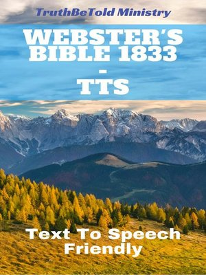 cover image of Webster's Bible 1833--TTS