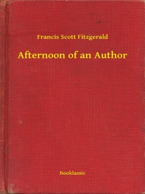 cover image of Afternoon of an Author