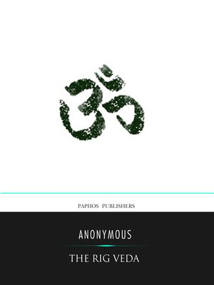 cover image of The Rig Veda