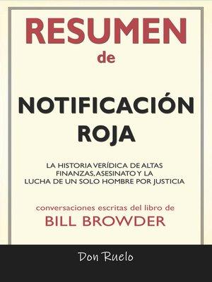 cover image of Resumen de Notificación Roja