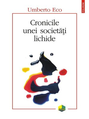 cover image of Cronicile unei societăți lichide