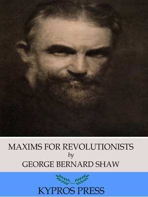 cover image of Maxims for Revolutionists