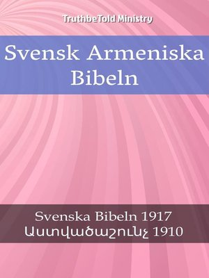 cover image of Svensk Armeniska Bibeln