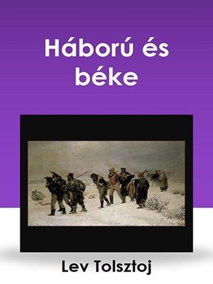 cover image of Háború és béke
