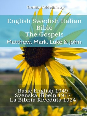 cover image of English Swedish Italian Bible - The Gospels - Matthew, Mark, Luke & John