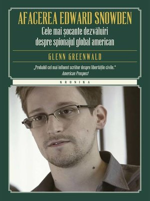 cover image of Afacerea Edward Snowden