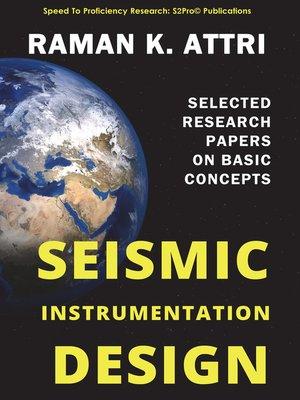 cover image of Seismic Instrumentation Design