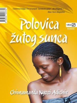 cover image of Polovica žutog sunca