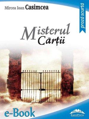 cover image of Misterul cărții