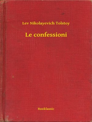 cover image of Le confessioni