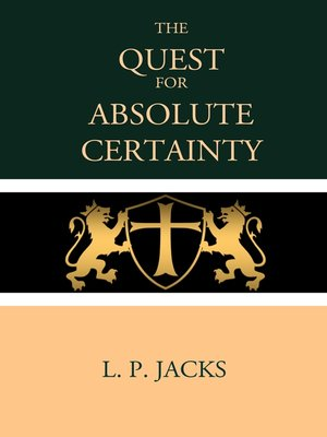 cover image of The Quest For Absolute Certainty